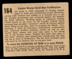 1938 Gum Inc. Horrors of War #164   Catalan Women Build New Fortifications Back Thumbnail