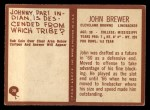 1967 Philadelphia #38  Johnny Brewer  Back Thumbnail