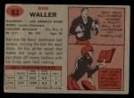 1957 Topps #82  Ron Waller  Back Thumbnail