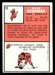 1966 Topps #18  Dave Behrman  Back Thumbnail