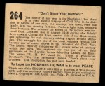 1938 Gum Inc. Horrors of War #264   Don't Shoot Your Brothers Back Thumbnail