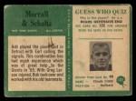 1966 Philadelphia #127  Bob Scholtz / Earl Morrall  Back Thumbnail