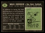 1969 Topps #21  Willis Crenshaw  Back Thumbnail