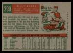 1959 Topps #299  Billy Klaus  Back Thumbnail