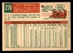 1959 Topps #270  Gil Hodges  Back Thumbnail