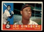 1960 Topps #304  Joe Ginsberg  Front Thumbnail