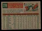 1959 Topps #278  Chuck Essegian  Back Thumbnail