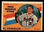 1960 Topps #143   -  Al Spangler Rookie Star Front Thumbnail