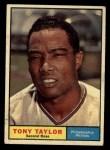 1961 Topps #411  Tony Taylor  Front Thumbnail