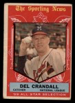 1959 Topps #567   -  Del Crandall All-Star Front Thumbnail