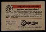 1953 Bowman Firefighters #16   Keep away from Kerosine Lamps Back Thumbnail