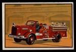 1953 Bowman Firefighters #55   Modern Triple Combination - International Front Thumbnail