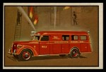 1953 Bowman Firefighters #47   Modern Rescue Truck and Pumper - Buffalo Front Thumbnail