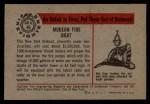 1953 Bowman Firefighters #46   Modern Fire Boat - New York City Back Thumbnail