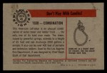 1953 Bowman Firefighters #45   1938 Combination Back Thumbnail