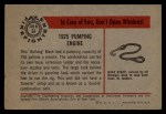 1953 Bowman Firefighters #61   1925 Pumping Engine Back Thumbnail