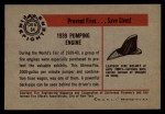 1953 Bowman Firefighters #64   1939 Pumping Engine Back Thumbnail