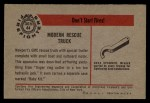 1953 Bowman Firefighters #44   Modern Rescue Truck - GMC Back Thumbnail