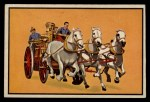 1953 Bowman Firefighters #52   Horse Drawn Steam Engine Front Thumbnail