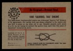 1953 Bowman Firefighters #48   1850 Squirrel Tail Engine Back Thumbnail