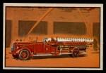 1953 Bowman Firefighters #15   Modern Hook and Ladder - Pirsch Front Thumbnail