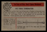 1953 Bowman Firefighters #21   1912 Knox Combination Back Thumbnail