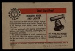1953 Bowman Firefighters #2   Modern Hook and Ladder - American LaFrance Back Thumbnail