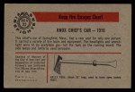 1953 Bowman Firefighters #22   Knox Chief's Car Back Thumbnail