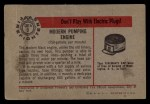 1953 Bowman Firefighters #3   Modern Pumping Engine - Mack Back Thumbnail