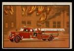 1953 Bowman Firefighters #8   Modern Hook and Ladder - Pirsch Front Thumbnail