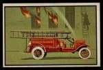 1953 Bowman Firefighters #42   1923 Hose Cart Front Thumbnail