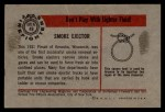 1953 Bowman Firefighters #49   Smoke Ejector Back Thumbnail
