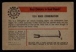 1953 Bowman Firefighters #28   1914 Knox Combination Back Thumbnail