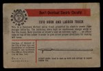 1953 Bowman Firefighters #27   1918 Hook and Ladder truck Back Thumbnail