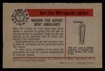 1953 Bowman Firefighters #5   Modern Fire Dept. Ambulance Back Thumbnail