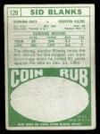1968 Topps #120  Sid Blanks  Back Thumbnail