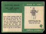1966 Philadelphia #52   -  Ernie Green / Gary Collins Cleveland Browns Back Thumbnail