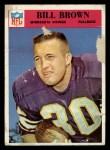 1966 Philadelphia #107  Bill Brown  Front Thumbnail
