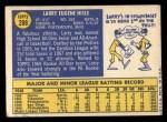 1970 Topps #288  Larry Hisle  Back Thumbnail