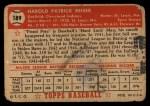1952 Topps #189 CRM Pete Reiser  Back Thumbnail