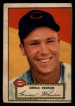 1952 Topps #80 RED Herm Wehmeier  Front Thumbnail
