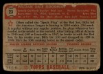 1952 Topps #23 RED Billy Goodman  Back Thumbnail