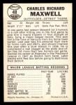 1960 Leaf #48  Charlie Maxwell  Back Thumbnail