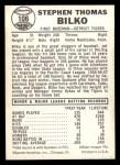 1960 Leaf #106  Steve Bilko  Back Thumbnail