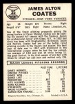 1960 Leaf #35 SML Jim Coates  Back Thumbnail