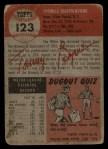 1953 Topps #123  Tommy Byrne  Back Thumbnail