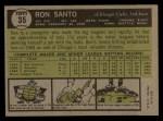1961 Topps #35  Ron Santo  Back Thumbnail