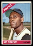 1966 Topps #300  Roberto Clemente  Front Thumbnail