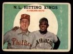 1959 Topps #317   -  Willie Mays / Richie Ashburn NL Hitting Kings Front Thumbnail