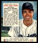 1953 Red Man #14 NL Duke Snider  Front Thumbnail